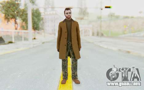 GTA 5 DLC Finance and Felony Male Skin para GTA San Andreas segunda pantalla
