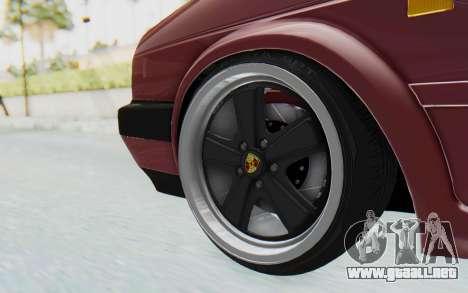 Volkswagen Golf Mk2 para GTA San Andreas vista hacia atrás