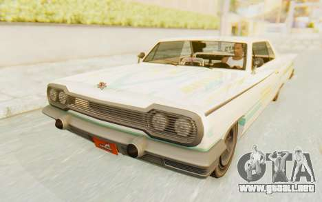 GTA 5 Declasse Voodoo SA Lights para GTA San Andreas interior