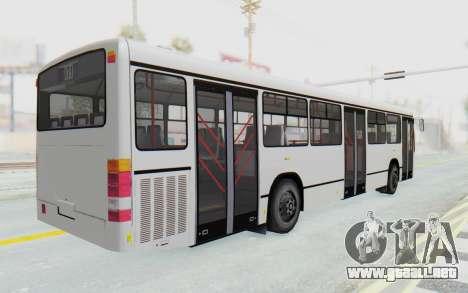 Pylife Bus para GTA San Andreas vista posterior izquierda
