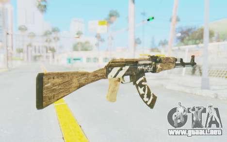 CS:GO - AK-47 Wasteland Rebel para GTA San Andreas segunda pantalla