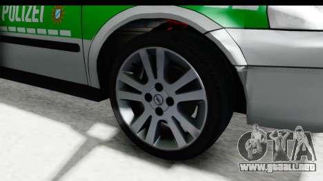Opel Astra G Variant Polizei Bayern para GTA San Andreas vista hacia atrás