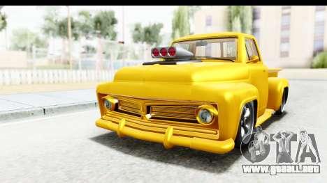 GTA 5 Vapid Slamvan without Hydro para GTA San Andreas vista posterior izquierda
