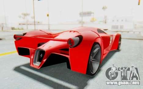 Ferrari F80 Concept 2015 Beta para la visión correcta GTA San Andreas