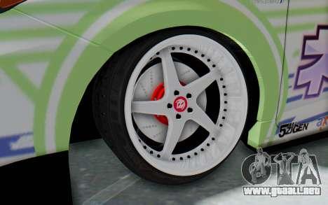 Toyota Prius Hybrid 2011 Hellaflush IF Itasha para GTA San Andreas vista hacia atrás