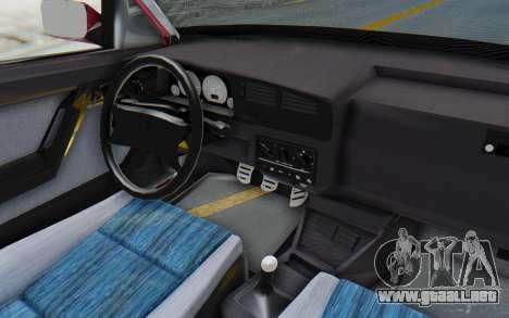 Volkswagen Golf 3 1994 para visión interna GTA San Andreas