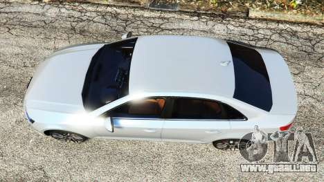 GTA 5 Audi A4 2017 v1.1 vista trasera