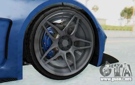 GTA 5 Vapid FMJ para GTA San Andreas vista hacia atrás