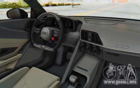 Audi R8 V10 2017 v2.0 para la visión correcta GTA San Andreas