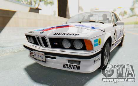 BMW M635 CSi (E24) 1984 IVF PJ1 para GTA San Andreas