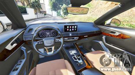 GTA 5 Audi A4 2017 v1.1 delantero derecho vista lateral