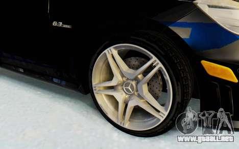 Mercedes-Benz E63 German Police Blue para GTA San Andreas vista hacia atrás