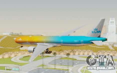 Boeing 777-300ER KLM - Royal Dutch Airlines v1 para la visión correcta GTA San Andreas