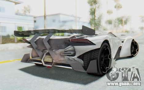 GTA 5 Grotti Prototipo v2 para GTA San Andreas left