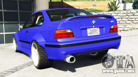 GTA 5 BMW M3 (E36) Street Custom [blue dials] v1.1 vista lateral izquierda trasera