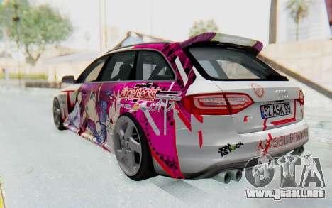Audi S4 Avant Yurippe Angel Beats Itasha para GTA San Andreas left