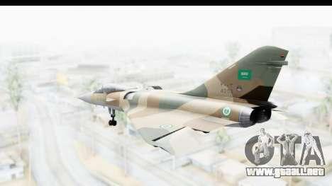 Dassault Mirage 4000 Royal Saudi Air Force para GTA San Andreas left