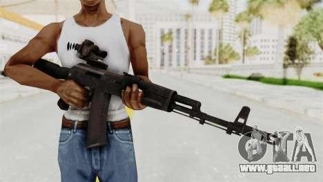AK-74M v4 para GTA San Andreas tercera pantalla