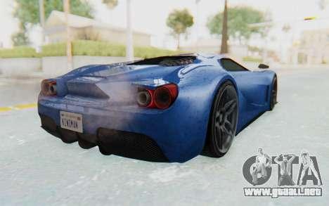 GTA 5 Vapid FMJ para GTA San Andreas vista posterior izquierda