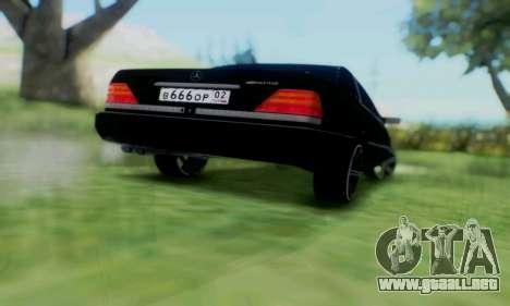 Mercedes-Benz MB W140 1999 para visión interna GTA San Andreas