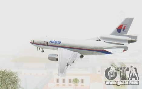 DC-10-30 Malaysia Airlines (Old Livery) para la visión correcta GTA San Andreas