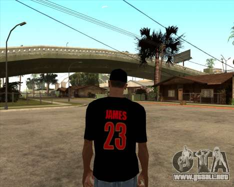 King James T-Shirt para GTA San Andreas segunda pantalla