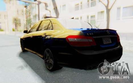 Mercedes-Benz E63 German Police Blue para GTA San Andreas left