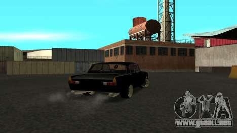 Moskvich 412 para GTA San Andreas vista posterior izquierda