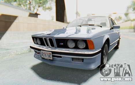BMW M635 CSi (E24) 1984 IVF PJ1 para la visión correcta GTA San Andreas