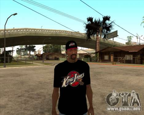 King James T-Shirt para GTA San Andreas