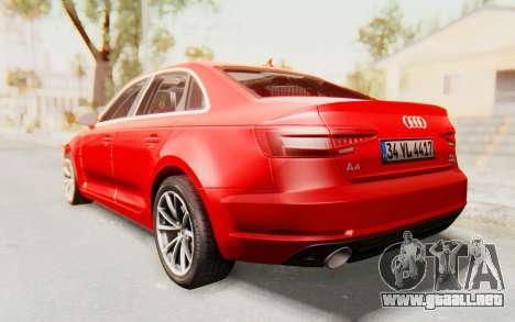 Audi A4 2017 IVF para GTA San Andreas left