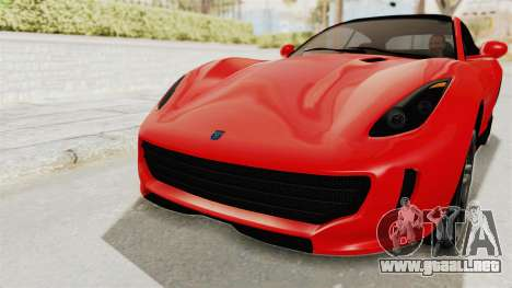 GTA 5 Grotti Bestia GTS v2 IVF para la vista superior GTA San Andreas