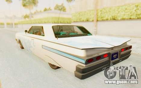 GTA 5 Declasse Voodoo Alternative v1 para las ruedas de GTA San Andreas