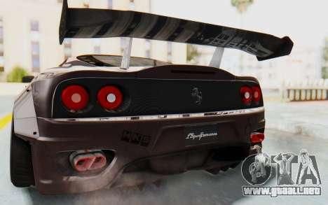 Ferrari 360 Modena Liberty Walk LB Perfomance v1 para la vista superior GTA San Andreas