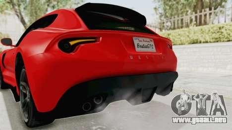 GTA 5 Grotti Bestia GTS v2 IVF para GTA San Andreas interior