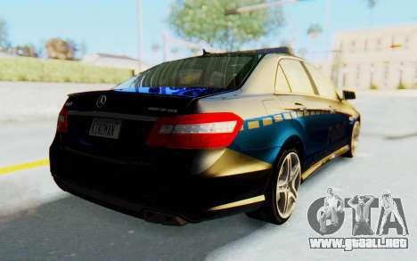 Mercedes-Benz E63 German Police Blue para GTA San Andreas vista posterior izquierda