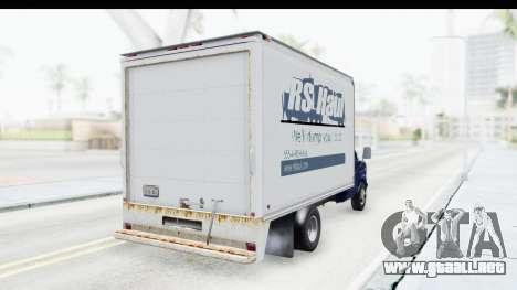 Ford E-350 Cube Truck IVF para la visión correcta GTA San Andreas