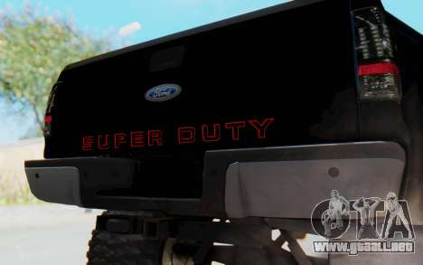 Ford Super Duty Off-Road para GTA San Andreas vista hacia atrás