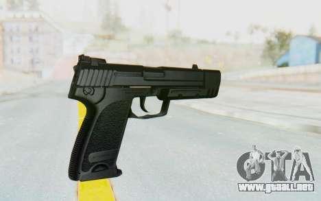 HK USP 45 Black para GTA San Andreas tercera pantalla