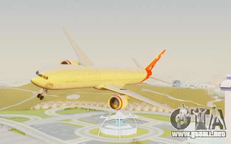 Boeing 777-300ER Virgin Australia v1 HD para GTA San Andreas vista posterior izquierda