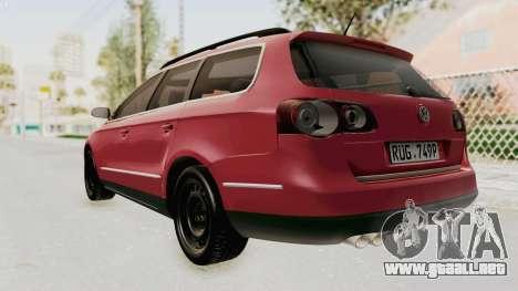 Volkswagen Passat B6 Variant para GTA San Andreas left