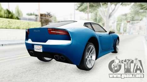 GTA 5 Lampadati Furore GT SA Lights para GTA San Andreas vista posterior izquierda