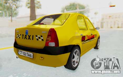 Dacia Logan Taxi para GTA San Andreas left