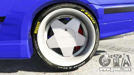 GTA 5 BMW M3 (E36) Street Custom [blue dials] v1.1 vista lateral trasera derecha