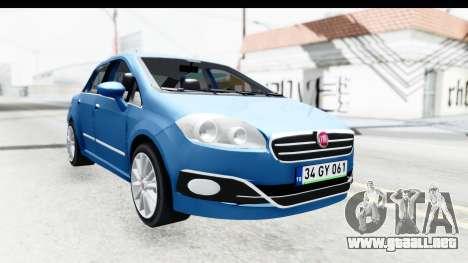 Fiat Linea 2014 Wheels para GTA San Andreas vista posterior izquierda