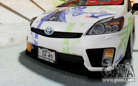 Toyota Prius Hybrid 2011 Hellaflush IF Itasha para vista lateral GTA San Andreas