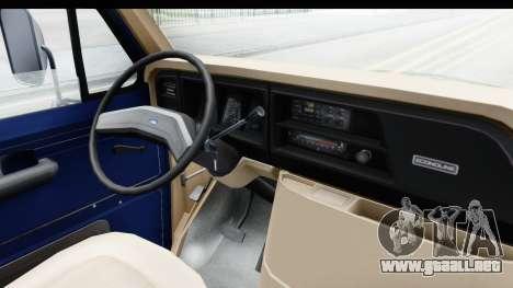 Ford E-350 Cube Truck IVF para visión interna GTA San Andreas
