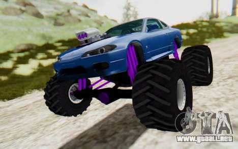 Nissan Silvia S15 Monster Truck para la visión correcta GTA San Andreas