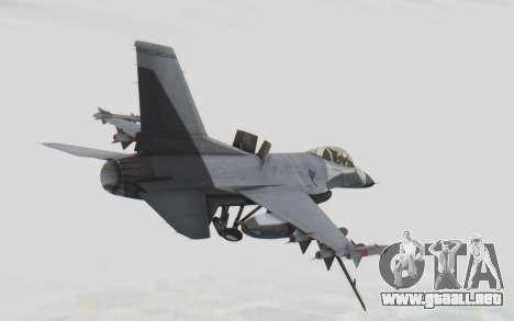 F-16 with Russian Missile para la visión correcta GTA San Andreas
