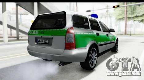 Opel Astra G Variant Polizei Bayern para la visión correcta GTA San Andreas